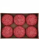 Ball berry 6 pieces per box, D8cm, red